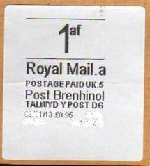 2013 1AF (A 5)(£0.95)' POST BRENHINOL ' RARE LABEL
