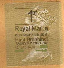 2013  1af ( A 5)(£0.00) POST BRENHINOL TYPE II ( RARE 5 CODE)