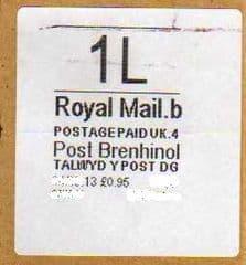 2013 1L-POST BRENHINOL- (CODES B 4) (RARE LATE USE)