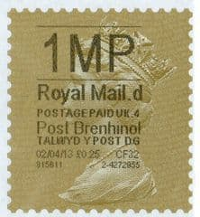 2013 '1MP'( D 4) 'POST BRENHINOL' GOLD PERF (NEW SERVICE FROM 2ND APRIL 2013)