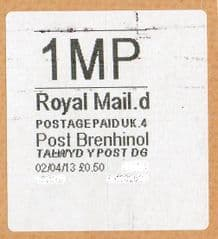 2013 '1MP'(D 4) POST BRENHINOL (NEW SERVICE FROM 2ND APRIL 2013)