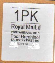 2013 1PK POST BRENHINOL (CODES D 5)