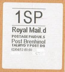 2013 '1SP'(D5) POST BRENHINOL (NEW SERVICE FROM 2ND APRIL 2013)