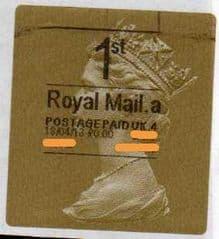 2013 '1ST' (A 4)(£0.00) 'WALSALL' HORIZON TYPE 3