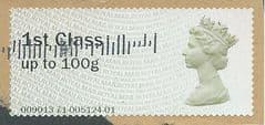 2013 1ST CLASS ' (MA13) POST & GO'  ( TYPE IIa) FINE USED