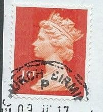 2013 1ST (S/A) 'ROYAL MAIL RED' (MTIL M13L)  MACHIN FORGERY FINE USED