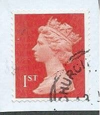2013 1ST (S/A) 'ROYAL MAIL RED ' (MTIL M13L) MACHIN 'FORGERY'  FINE USED