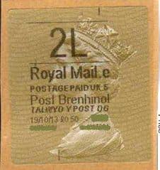 2013 2L (E 5) 'POST BRENHINOL' TYPE 2 (RARE CODE 5)