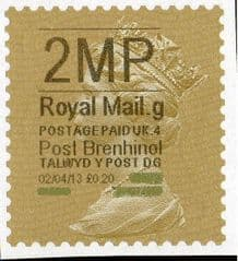 2013 '2MP'( G 4) 'POST BRENHINOL' GOLD PERF(NEW SERVICE FROM 2ND APRIL 2013)