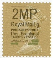 2013 '2MP'( G 5) 'POST BRENHINOL' GOLD PERF (NEW SERVICE FROM 2ND APRIL 2013)