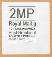 2013 '2MP'(G 5) POST BRENHINOL (NEW SERVICE FROM 2ND APRIL 2013)