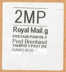 2013 '2MP'(G4) POST BRENHINOL(NEW SERVICE FROM 2ND APRIL 2013)