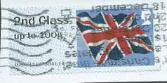 2013 '2ND CLASS' UNION FLAG' (NO CODES) (HARROGATE) (WRONG VALUE) FINE USED