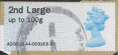 2013 2ND LARGE ' POST & GO' (MA13)(TYPE IIIa)  FINE USED