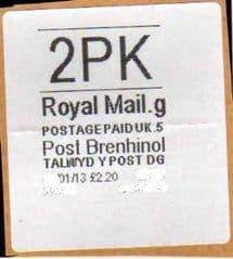 2013 2PK POST BRENHINOL (CODES G 5)
