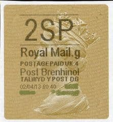 2013 '2SP' (G 4) POST BRENHINOL TYPE II (NEW SERVICE FROM 2ND APRIL 2013)