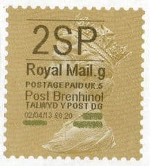 2013 '2SP'( G 5) 'POST BRENHINOL' GOLD PERF (NEW SERVICE FROM 2ND APRIL 2013)