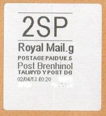2013 '2SP'(G 5) POST BRENHINOL (NEW SERVICE FROM 2ND APRIL 2013)