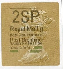 2013 '2SP' (G 5) POST BRENHINOL TYPE II (NEW SERVICE FROM 2ND APRIL 2013)