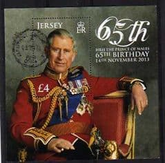 2013 £4.00 '65TH BIRTHDAY OF PRINCE CHARLES' M/S FINE USED