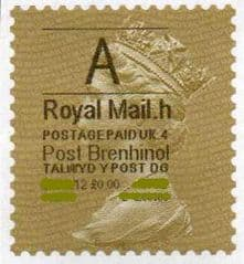 2013 'A' (H 4 ) (£0.00) POST BRENHINOL (LATE USE) **RARE**