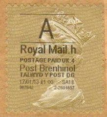 2013 'A'( H 4)  POST BRENHINOL GOLD PERF TYPE 1 ( VERY LATE USE)