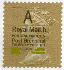 2012 'A' (H 5 ) (£0.00) POST BRENHINOL (LATE USE) **RARE**