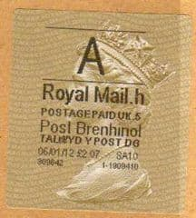 2013 A ( h 5) POST BRENHINOL GOLD HORIZON (TYPE 2a)