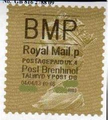 2013 'BMP'( P 4) 'POST BRENHINOL' GOLD PERF (NEW SERVICE FROM 2ND APRIL 2013)