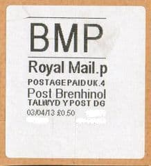 2013 'BMP '(P 4) POST BRENHINOL WHITE (NEW SERVICE FROM 2ND APRIL 2013)