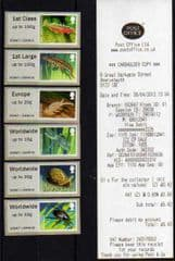 2013 (COLLECTORS SET) 'PONDLIFE ' (ABERYSTWYTH) (6v) (ENGLISH RECEIPT)( GUILLOTINED SET!)