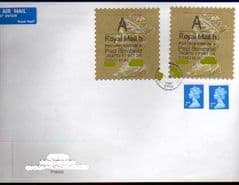 2013 'DOUBLE LABELLED' WELSH TYPE I LATE USE ON COVER TO FRANCE