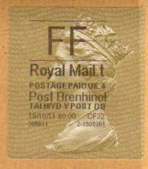 2013 'FF'(£0.00) POST BRENHINOL TYPE II WITH NEW CODES