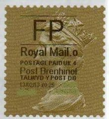 2013 'FP'( O 4) 'POST BRENHINOL' GOLD PERF TYPE 1 (VERY LATE USE)