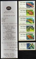 2013 'FRESHWATER -LAKES (SERIES2)' (6 X 1ST)( BRISTOL BROADMEAD #03) WITH RECEIPT