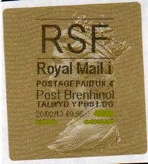 2013 RSF ( i 4)(£0.95) POST BRENHINOL TYPE 2a WITH CODES