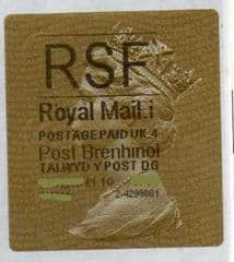 2013 RSF ( i 4)(£1.10) 'POST BRENHINOL' TYPE 2a (NEW SECURITY SLITS)