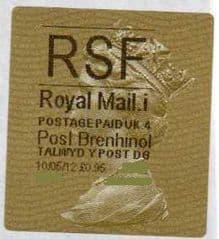 2013 RSF ( i 4)(£1.10) POST BRENHINOL TYPE II