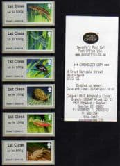 2013 ( SET) 1ST 'PONDLIFE ' (ABERYSTWYTH) (6v) (WELSH RECEIPT)(RARE- ALL GUILLOTINED INDIVIDUALLY !)