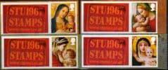 2013 (SET) U/M 'CHRISTMAS 2013' WITH STU1967 STAMPS' TABS (4V)