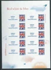 2013 'STAFFORD STAMP SHOW' ( UNION FLAG) (1/2 SHEET)(10v)
