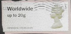 2013 WORLDWIDE 20g  'N.C.R POST & GO'   ( MA13) FINE USED