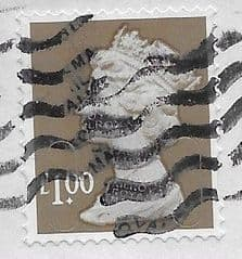 2014 £1.00 (S/A) FORGERY (MTIL M14L) ON PIECE FINE USED