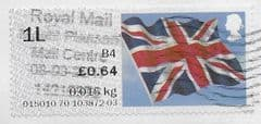 2014 1L (B4) 'UNION FLAG' FINE USED