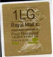2014 1LG (C 4)  POST BRENHINOL TYPE II WITH  CODES (LATE USE)