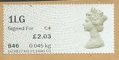 2014 '1LG SIGNED FOR ' (C4) 'N.C.R POST & GO' (MA14) (POSTCODE)  FINE USED