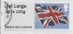 2014 1ST LARGE  (UP TO 100g) 'UNION FLAG' (B9GB14 JE01) FINE USED