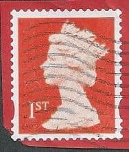 2014 1ST (S/A) 'ROYAL MAIL RED'(MTIL M14L)  MACHIN FORGERY  FINE USED