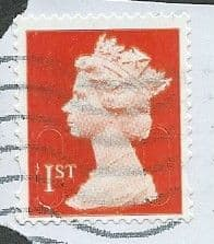 2014 1ST (S/A) 'ROYAL MAIL RED ' (MTIL M14L) MACHIN FORGERY  FINE USED