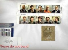 2014 '2013 GREAT BRITONS' (10v) )+ WELSH SD1 (Y 5) TYPE 1 HORIZON LABEL ON COVER